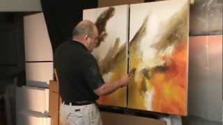 Abstract Painting Demo. 'Sea Storm' Creating Movement And