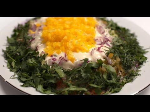 Вегетарианский салат «Мимоза»