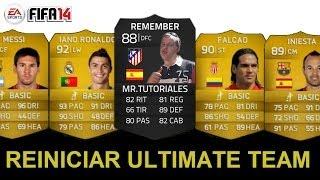 Fifa 2014. Como reiniciar un Ultimate Team