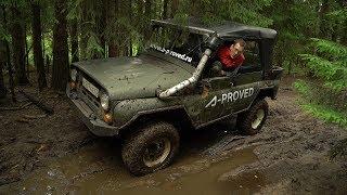 Рубимся на УАЗике через лес и грязь. Стрим Костя Академик.