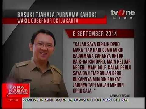 AHOK MUNDUR Pernyataan Ahok Dianggap Hina DPRD 11 September 2014