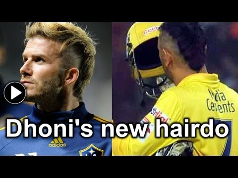 MS Dhoni's hairstyles through the years