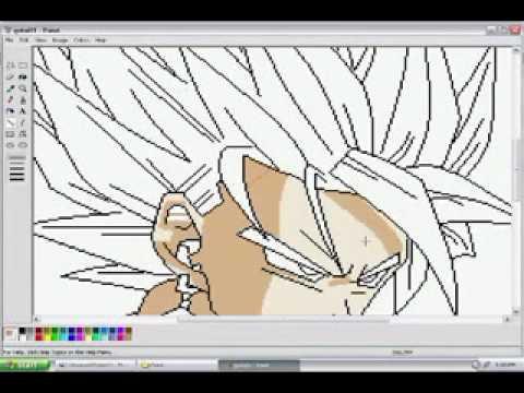 用小畫家畫出七龍珠-悟空的高手