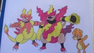 How To Draw Pokemon: No.240 Magby, No.126 Magmar, No.467