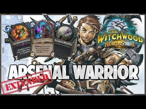 Arsenal Warrior | Extended Gameplay | Hearthstone | The Witchwood