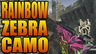 "Ghosts RAINBOW ZEBRA CAMO! ""Spectrum"" Secret Weapon Gun"