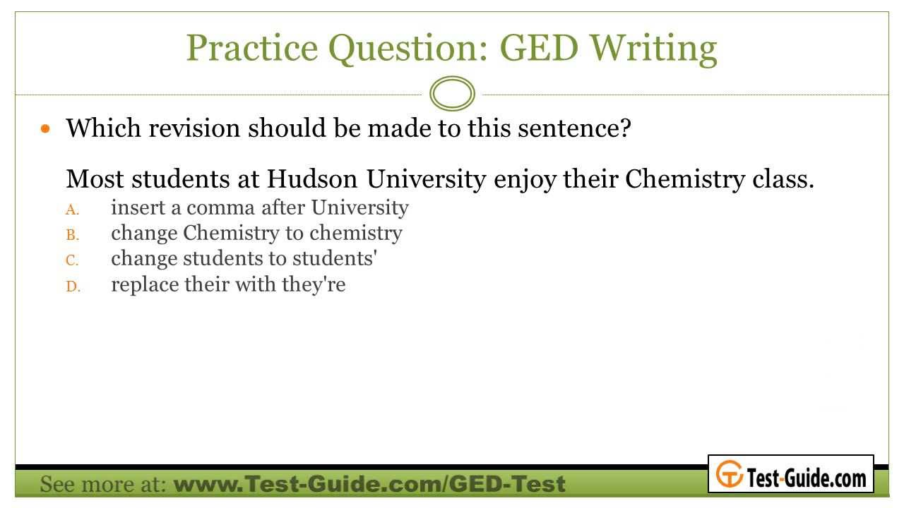 ged essay test questions