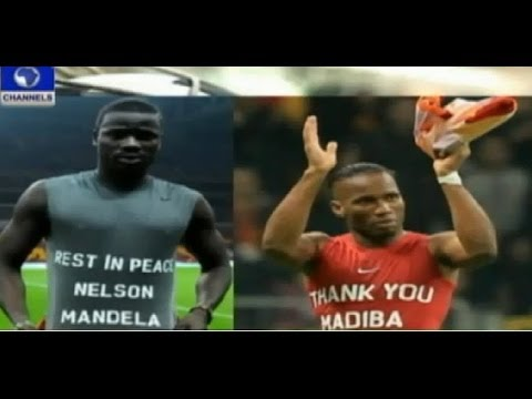 Eboue, Drogba escape punishment for paying tribute to Madiba