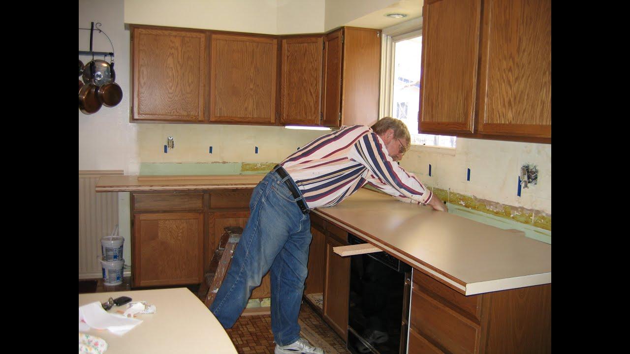Countertop Remodel Options : DIY Kitchen Countertop Remodel - YouTube
