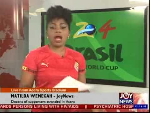 Dozens of Supporters Standarded in Accra - Joy News (16-6-14)