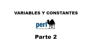 Perl tutorial. Parte 2