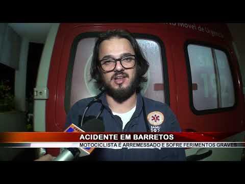 18/05/2019 - Motociclista de 44 anos fica gravemente ferido em acidente de trânsito em Barretos
