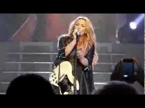 Oops! Demi Lovato Almost  Drops Her Mic On Stage In Los Angeles, CA