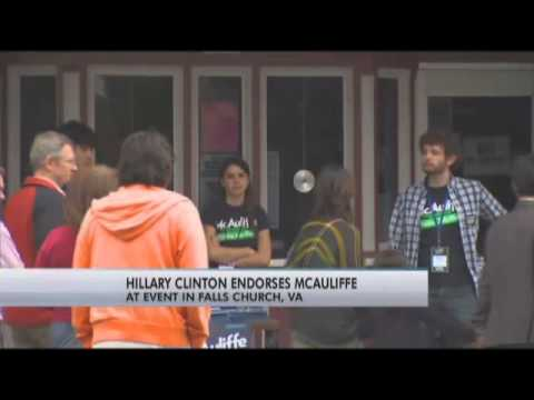 Hillary Clinton campaigns for Terry McAuliffe
