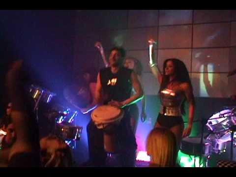 SHOW ELECTRODRUMS fiestas bailarinas de TV PERCUSION djembe Lucho TAMBORES tribal HOUSE Match