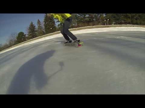 Winter Longboarding on Ice