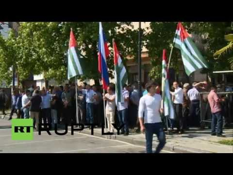 Abkhazia: Pro-govt rally held following opposition protests