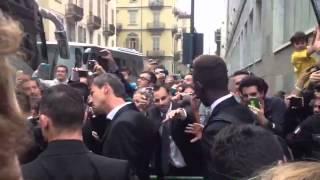 Juve-Roma, i giocatori giallorossi escono dall'hotel