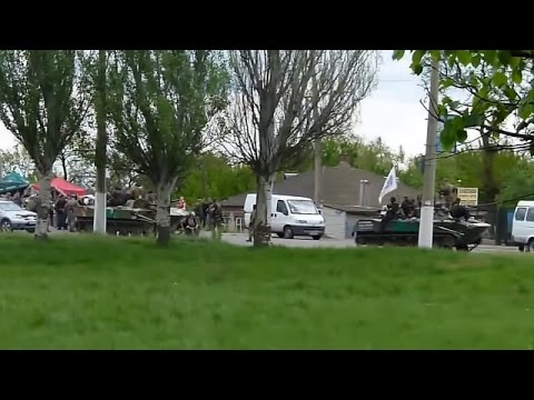 Antiterrorist Operation In Sloviansk Eastern Ukraine, May 5 2014, 13.00, part 2