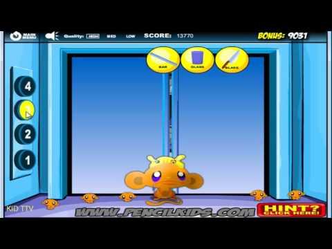 Chú khỉ buồn 10: Thang máy - Monkey Go Happy 10 Elevators