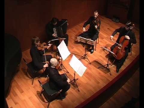 "Polina Nazaykinskaya ""Elegy"" for bayan and string quartet"
