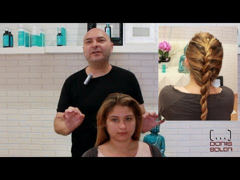 Como hacer una Trenza francesa dos cabos - French Twist into Rope Braid