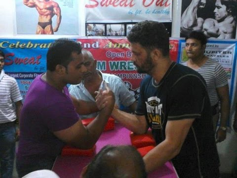 Arm Wrestling Competition (90 Kg+) at Sweatout Gym, Baranagar