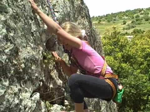 Rock Climbing at Saqeb Cliff Jordan May 2009
