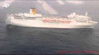 Raw Video: Italian Cruise Ship Drifts Powerless