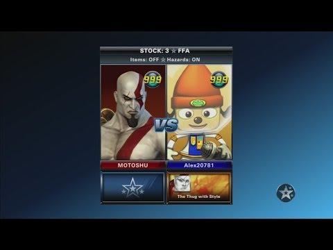 PlayStation All-Stars Battle Royale - MOTOSHU(Kratos) vs Alex20781(PaRappa)