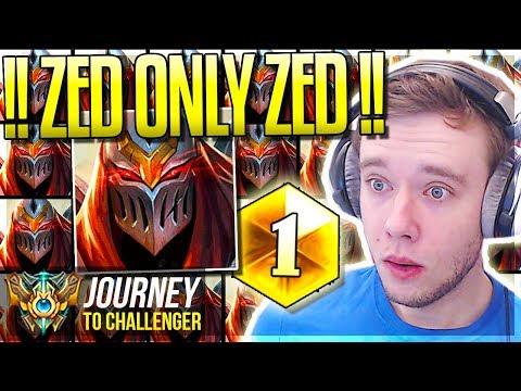 ZZZZEEEEEEEEEEDDDDDD ONLY!!!! - Journey To Challenger | League of Legends