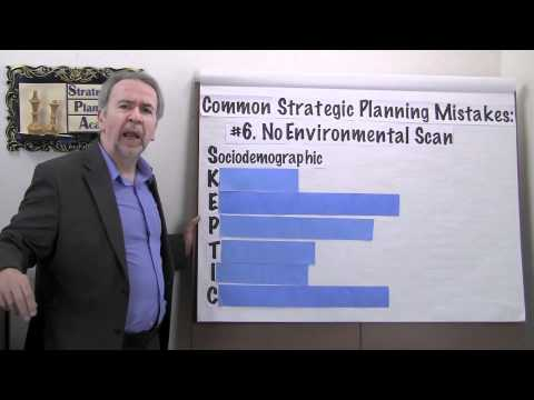 Strategic Planning Mistakes: #6 - No Environmental Scan - Project Management Video