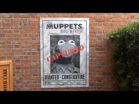 "Epcot ""Muppets Most Wanted"" Great Constantine Caper Scavenger Hunt in World Showcase"