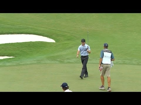 Rory McIlroy drains long birdie putt at Cadillac in Round 1