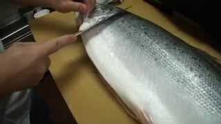 Como filetear un salmón