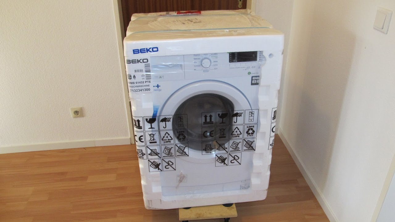 beko wmb waschmaschine washing machine unboxing youtube. Black Bedroom Furniture Sets. Home Design Ideas