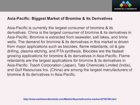 Bromine Market worth 776,844 91 Tons By 2018