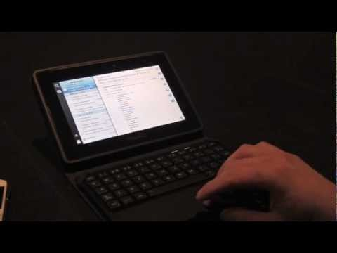 BlackBerry Mini Keyboard - Official Video of Bluetooth Keyboard for the BlackBerry PlayBook