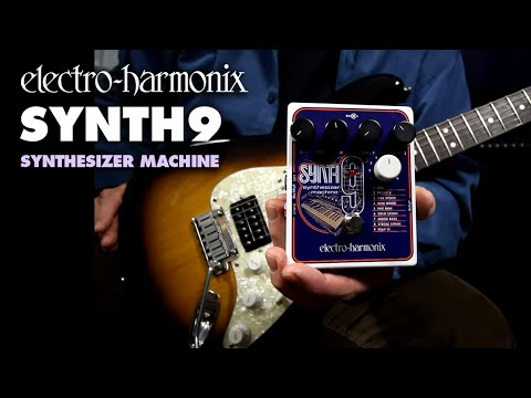 Electro Harmonix SYNTH9 Synthesizer Machine Polyphonic Harmoniser Guitar Effects Pedal
