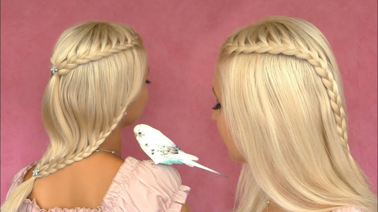... braid tutorial Cute hairstyle for short medium long hair - YouTube