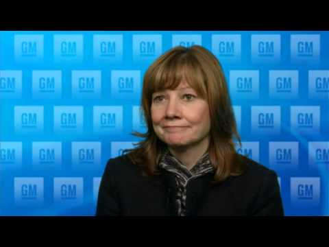 GM's Mary Barra reacts to appointment as next CEO, Dec 2013