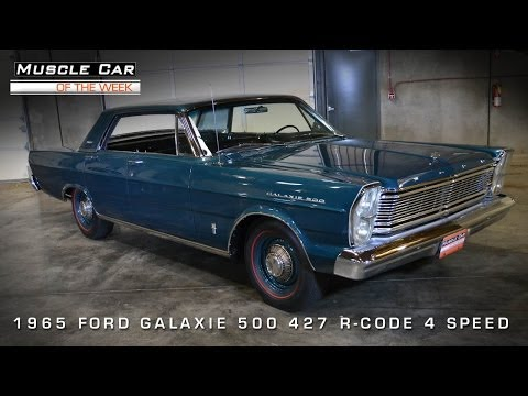 Muscle Car Of The Week Video #51: 1965 Ford Galaxie 500 R-Code 427 4-D