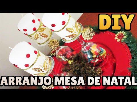 DIY: Arranjo de Mesa para o Natal (Centro de Mesa para Decoração Natalina)