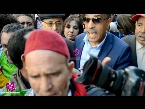 تعنيف الصحافيين في مسيرة النقابات