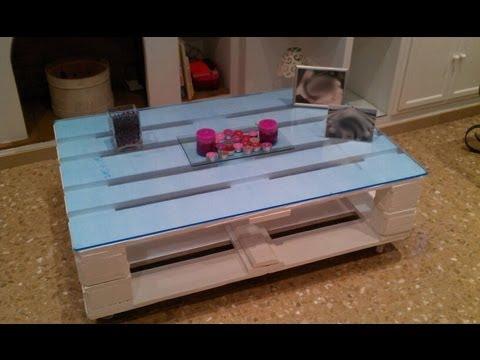 Como hacer una mesa con palets how to do a table with for Como hacer una mesa con palets