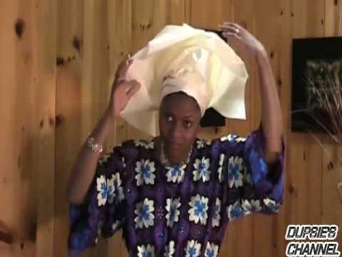 How to tie Gele, Aso Oke, Head wrap, Head tie, Scarf, Damask, Single