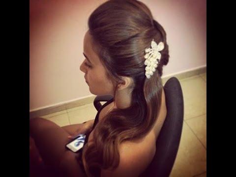 תסרוקת חצי אסופה לצד| יפית קוריש - מאפרת ומעצבת שיער / yafit koresh - hair&makeup, bridal updo