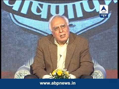 Watch Kapil Sibal face some tough questions on GhoshnaPatra