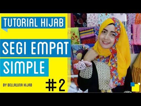 Tutorial Hijab Segi Empat Simple Untuk Sehari-hari
