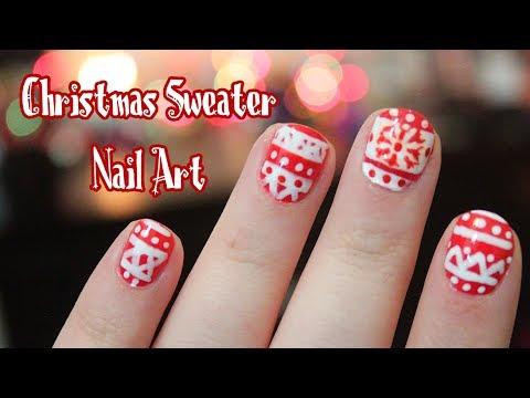 Holiday Sweater Nail Art